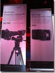New BlackMagic cinema Cameras